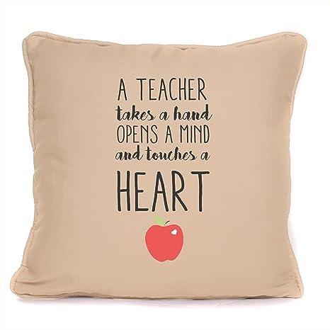 Amazon.com: Mejor profesor toca un corazón – regalo ...