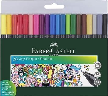 Amazon.com: Faber-Castell Grip finepen – Monedero de 20 ...