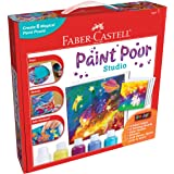 Faber-Castell Do Art Paint Pour Studio - No Mix Acrylic Paint Pouring Set for Kids - Makes 6 Fluid Art Projects, Multi (FC143