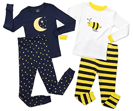 cad3e4f5b Amazon.com  Leveret Kids   Toddler Pajamas Boys Girls Bumble Bee ...