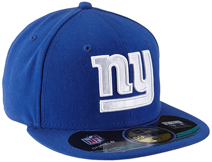 5a09190fdee27 Amazon.com   NFL Mens New York Giants On Field 5950 Royal Blue Game Cap By  New Era   Sports Fan Baseball Caps   Clothing