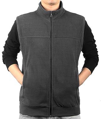 ee94988735fcb0 iLoveSIA Men's Spring Full-Front-Zip Fleece Vest 5469 at Amazon ...