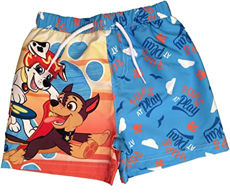 3793214e2e Paw Patrol Boys Pups at Play Swim Shorts Ages 18 Months to 5 Years: Amazon. co.uk: Clothing
