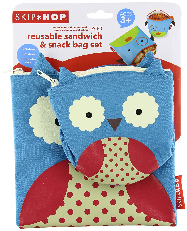 Skip Hop Zoo Reusable Sandwich and Snack Bag Set