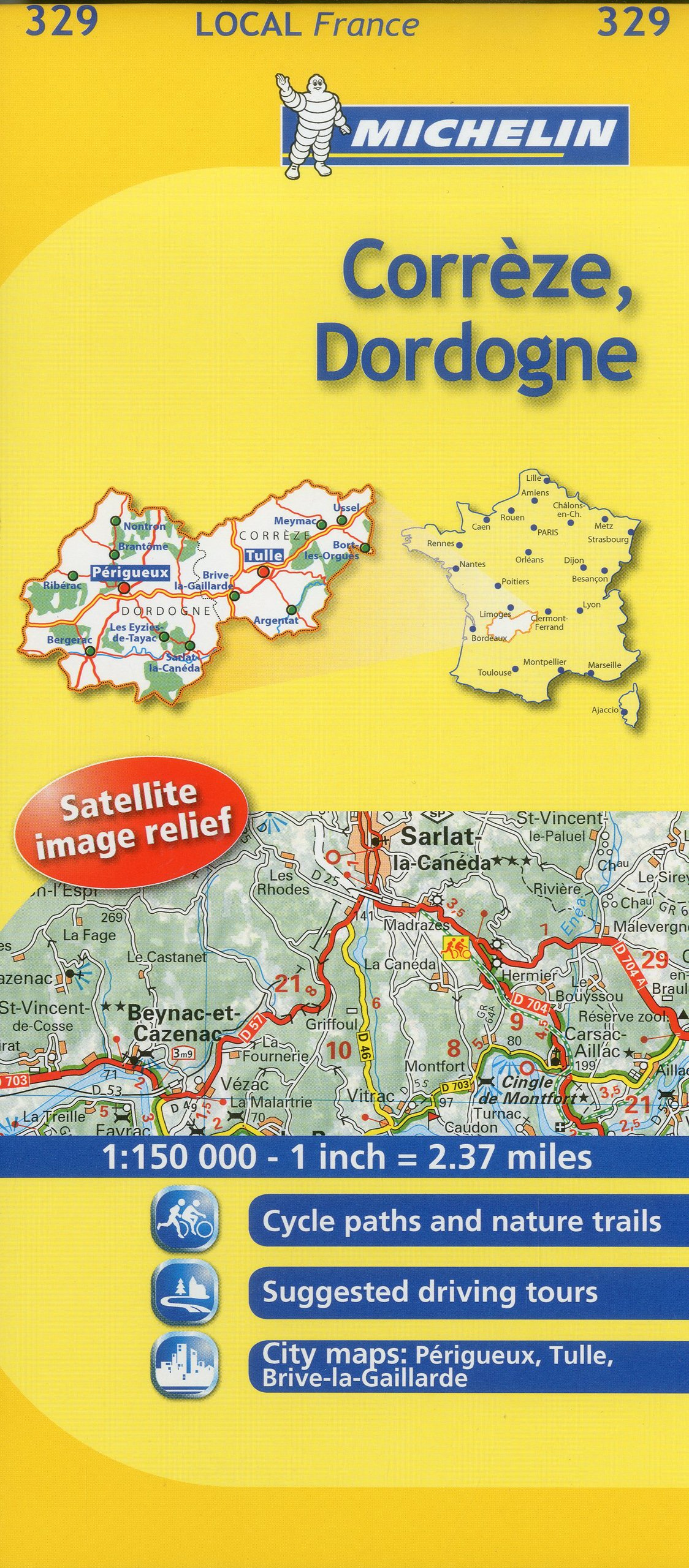 Map Of France Detailed.Michelin Map France Correze Dordogne 329 Michelin Local Maps