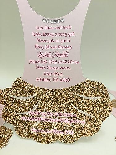 Amazon tutu invitations set of 12 tutu baby shower invitations tutu invitations set of 12 tutu baby shower invitations tutu birthday invitations filmwisefo