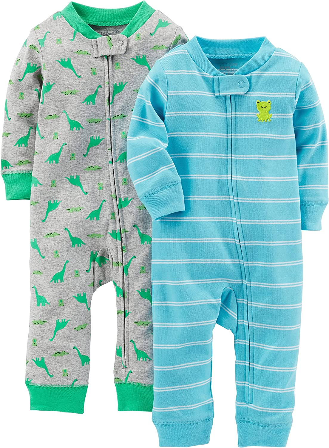 Simple Joys by Carter's Baby Boys' 2-Pack Cotton Footless Sleep and Play: Clothing