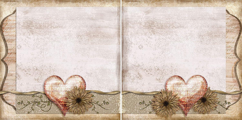 Delicate Heart NPM EZ Layout 3331 Premade Scrapbook Pages
