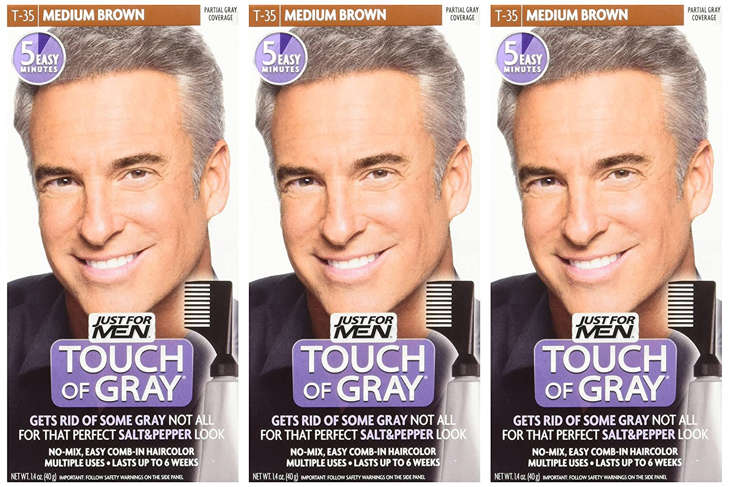 Amazon Just For Men Touch Of Gray Comb In Mens Hair Color