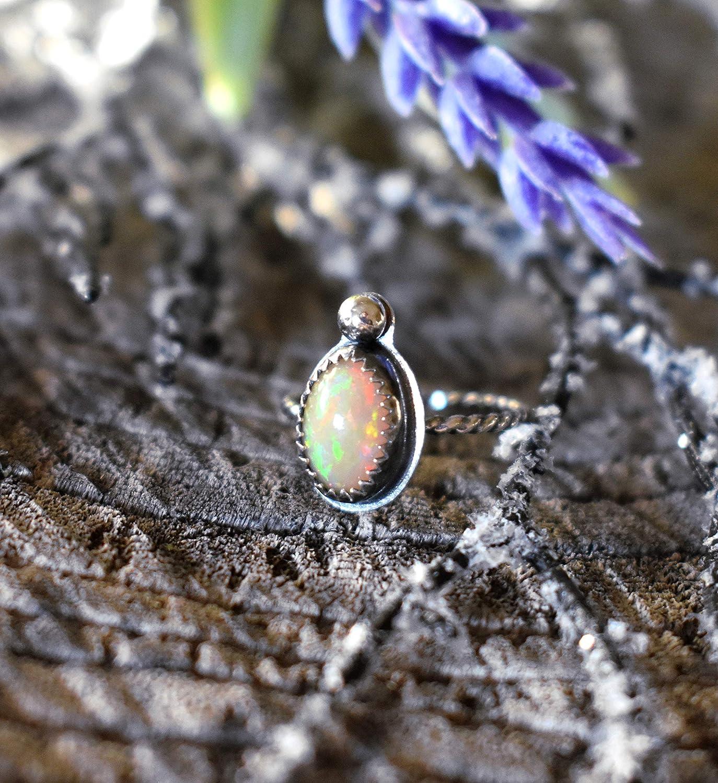ETHIOPIAN OPAL GEMSTONE Cabochon 4.60 ct Pear Shape Ethiopian Opal Ring Size Natural Opal Gemstone 17x10x6 mm