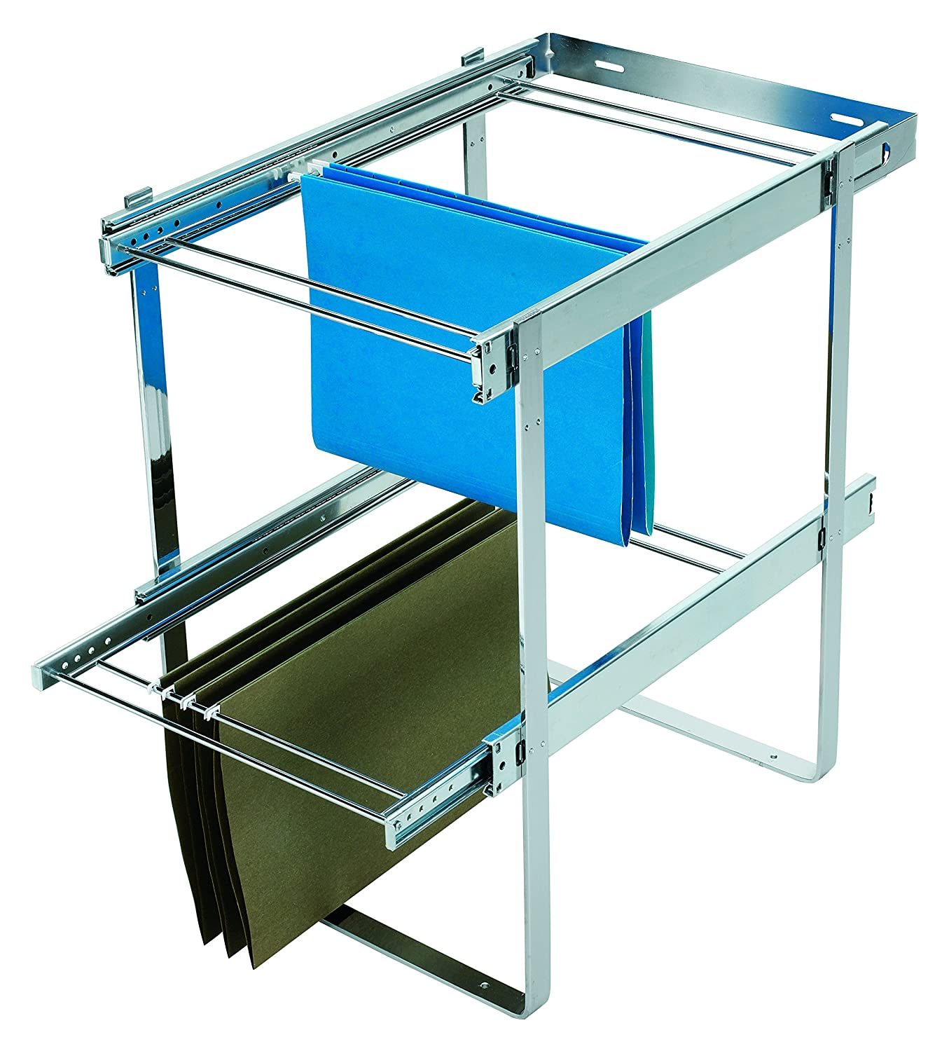 Rev-A-Shelf Two-Tier File Drawer Organizers, Chrome RAS-FD-KIT
