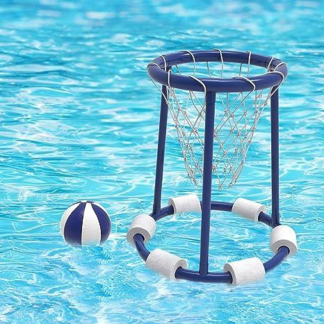 Amazon.com: Hey! Play! Pool Basketball Hoop Set-Basketball ...