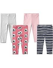 ad3fc09c3761 Amazon Brand - Spotted Zebra Girls' Toddler & Kid 4-Pack Capri Leggings