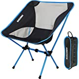 Ultralight Folding Camping Chair, Portable Compact for Outdoor Camp, Travel, Beach, Picnic, Festival, Hiking, Lightweight Backpacking (Sky Blue)