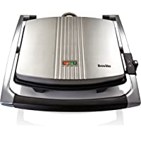 Breville VST026X Sandwichmaker Panini Grill | Sandwichtoaster roestvrij staal | Platina