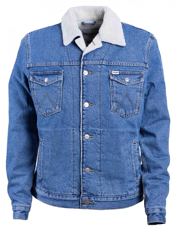Wrangler Western Denim Jacket Mid Stone Chaqueta para Hombre