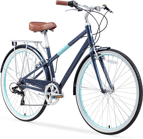 sixthreezero Reach Your Destination Women s Hybrid Bike with Rear Rack, 28 Inches, 7-Speed