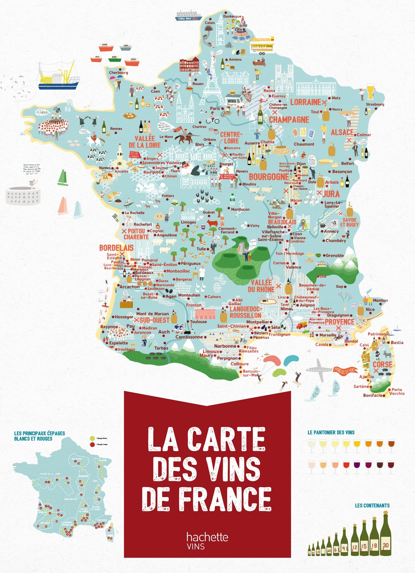carte des vignobles de france La carte des vins de France (French Edition): Denturck, Melody