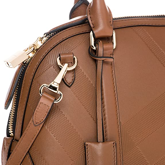 c011ac32c6f5 Burberry Women s Small Soft Check Orchard Bowling Bag Tan  Amazon.ca  Shoes    Handbags
