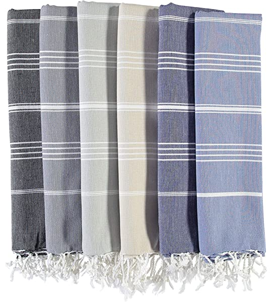 Craftbot Boho Chic Cotton Handloom Towels 30x57 Inches Set of 2