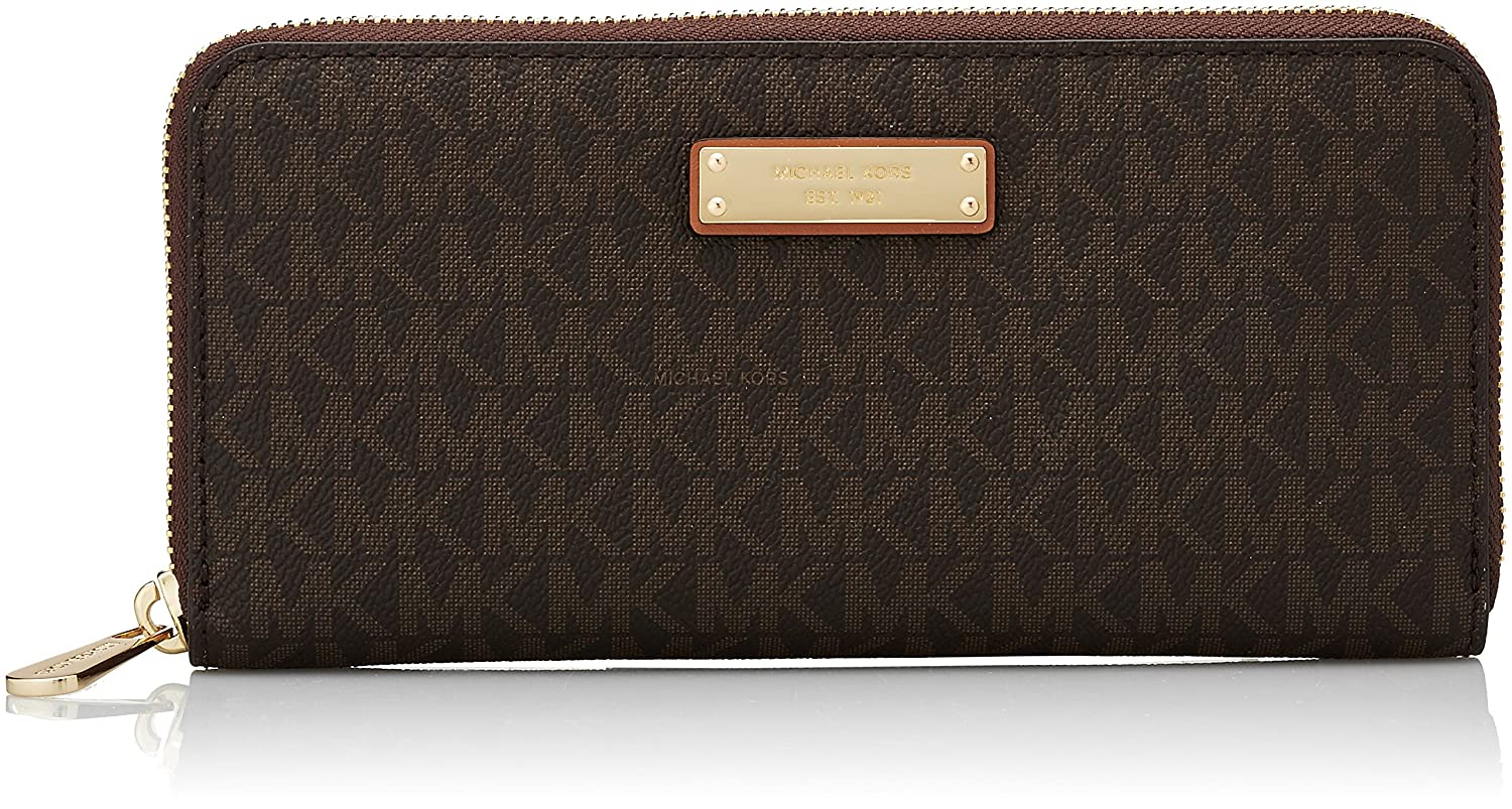 98c0555cb6e1 Amazon.com  Michael Kors Women s Jet Set Continental Wallet