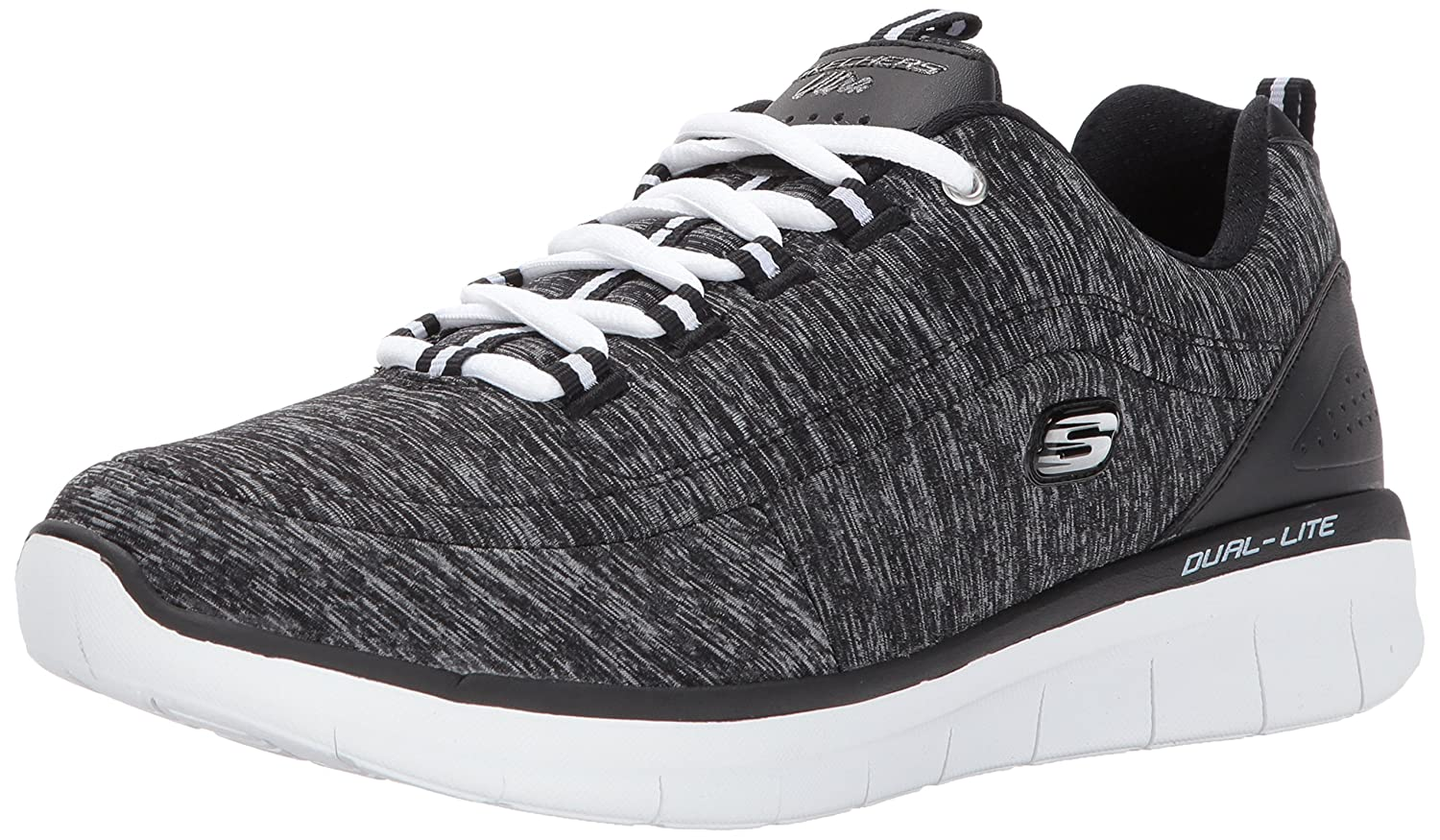 Skechers Sport Women's Synergy 2.0-Headliner Wide Fashion Sneaker B074CMV1K1 8.5 C US|Black/White