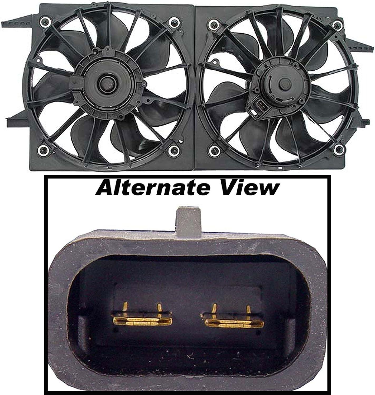 Dual Radiator Cooling Fan Assembly for Chevy Malibu Pontiac Grand Am Cutlass