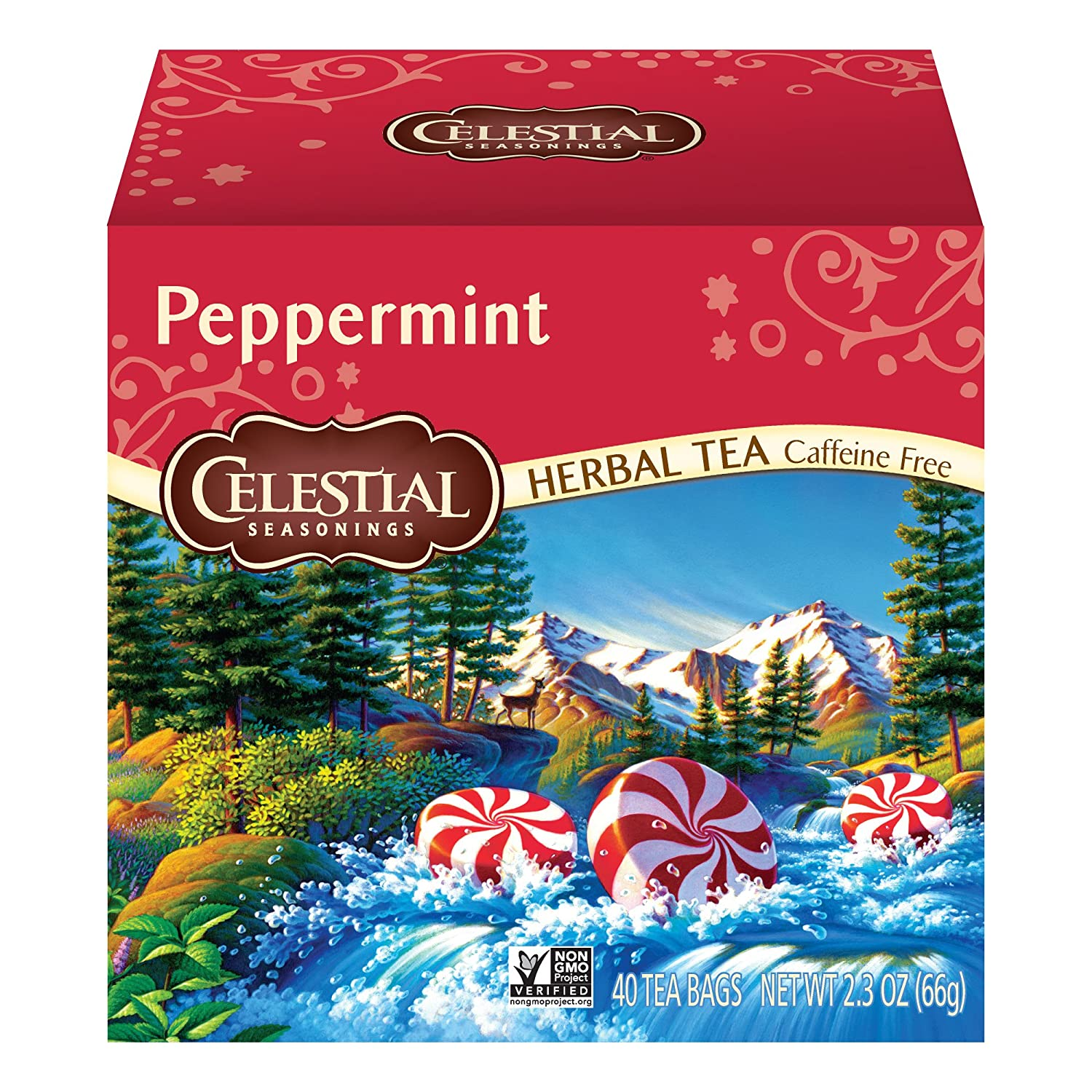 Celestial Seasonings Herbal Tea, Peppermint, 40 Count