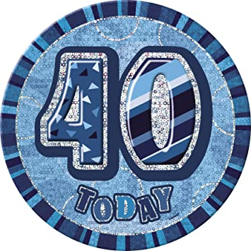 BLING Party Decorations and Tableware for 40th Birthday in Blue