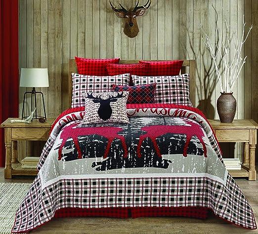 LAZY BEAR GREY DUVET COVER BEDDING SET FESTIVE SNOW WINTER SLEEP DUSKY PINK XMAS