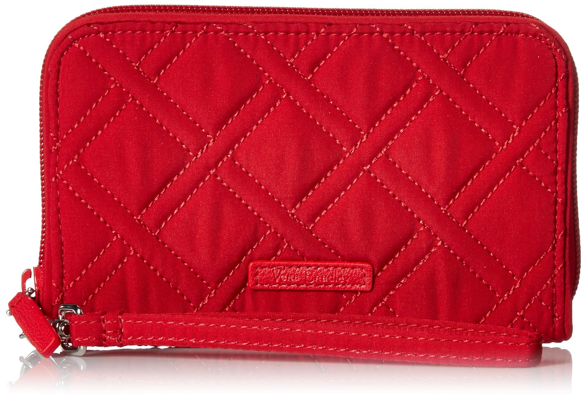 Vera Bradley RFID Grab and Go Wristlet, Cardinal red