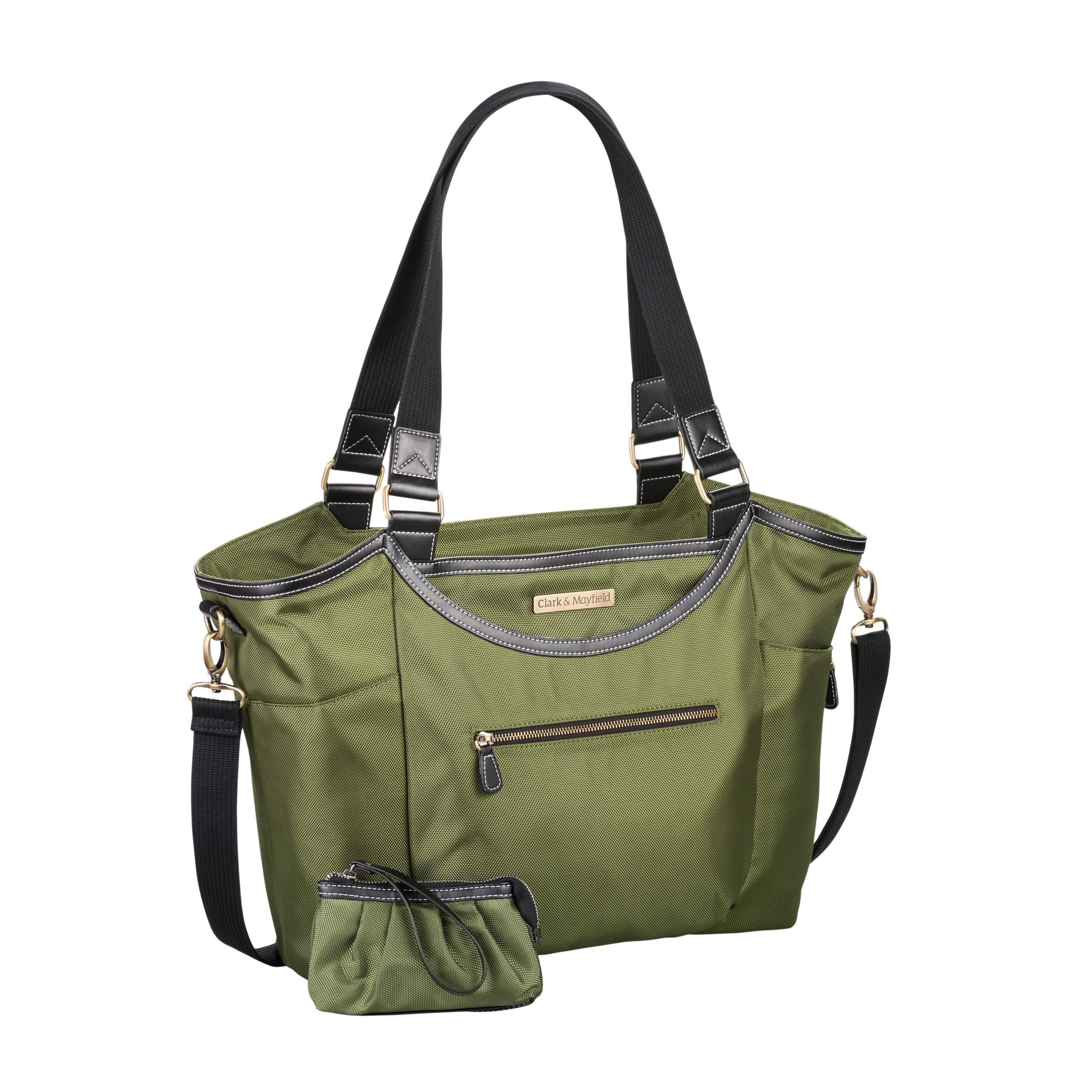 Clark & Mayfield Women's Bellevue Laptop Handbag (Fits laptops up to 18.4'', Pesto Green)