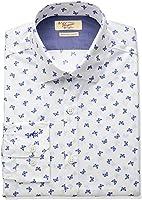 Original Penguin Men's Slim Fit Stretch Butterfly Print Dress Shirt