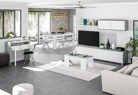Mobile Soggiorno Design Moderno.Eglemtek Parete Attrezzata Ginevra Mobile Soggiorno Tv Con Mensole