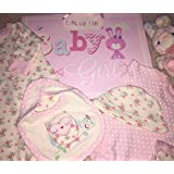 5 Piece Baby Girl Gift Set Purple With Embroidery and Applique - 0/3 Months