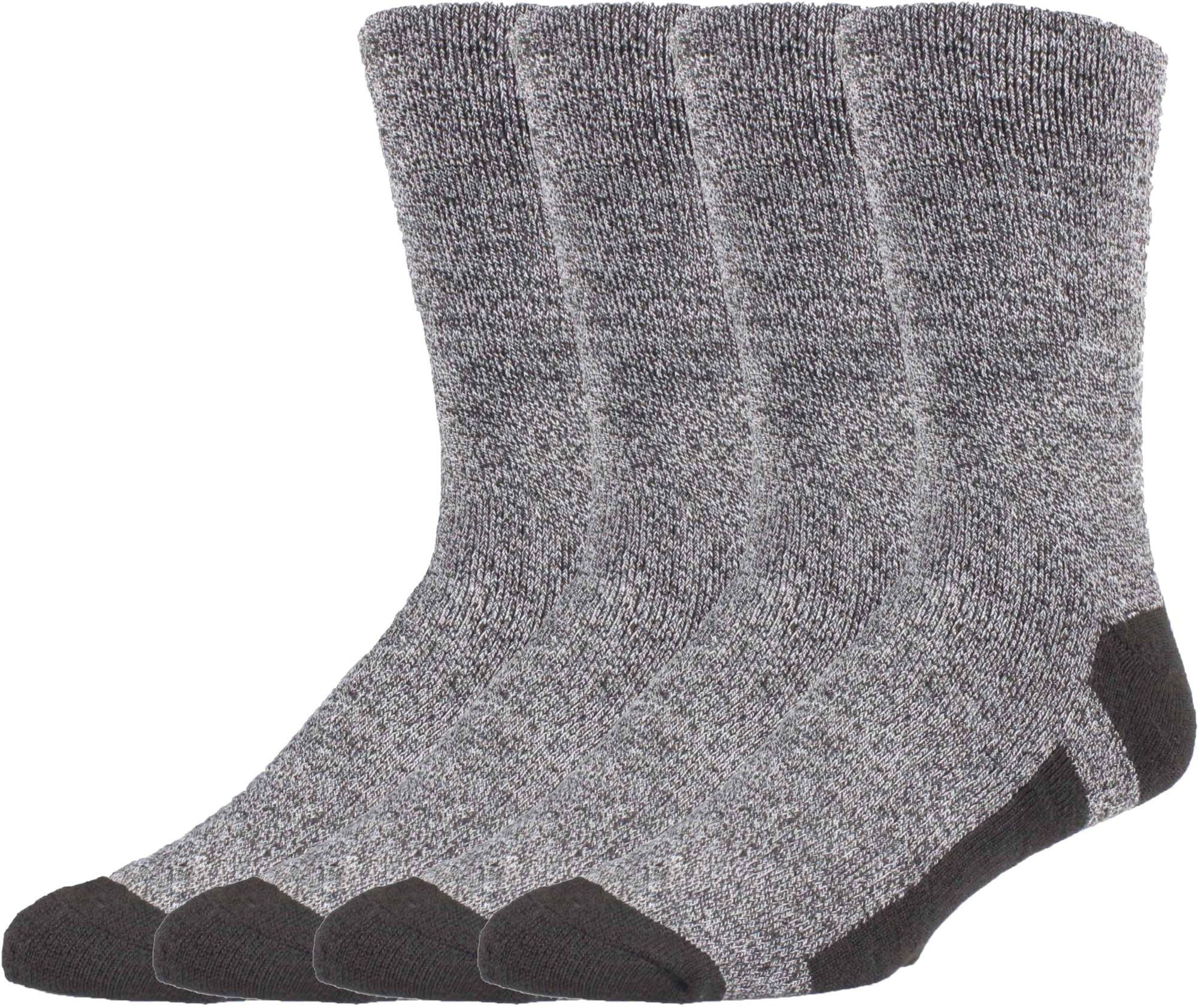 Field & Stream Long Trail Crew Socks 4 Pack (Black, XL)