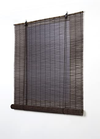 Estores Basic, persianas de bambu, Wengué, 90x170cm, estores para ...