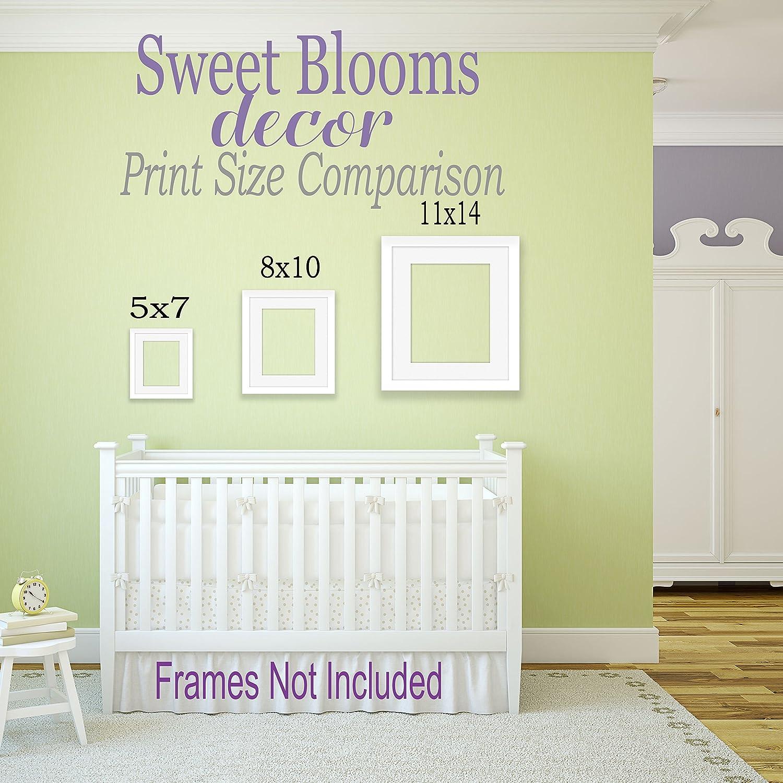 Amazon.com: Girl Woodland Nursery Wall Art Animals Baby Room Décor ...