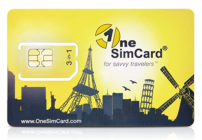 OneSimCard Prepaid International 3 In One SIM Card For Over 200 Countries With 10