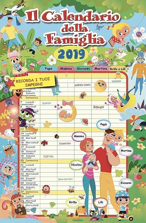 Calendario Agenda Famiglia 2019 Amazonit Cancelleria E Prodotti