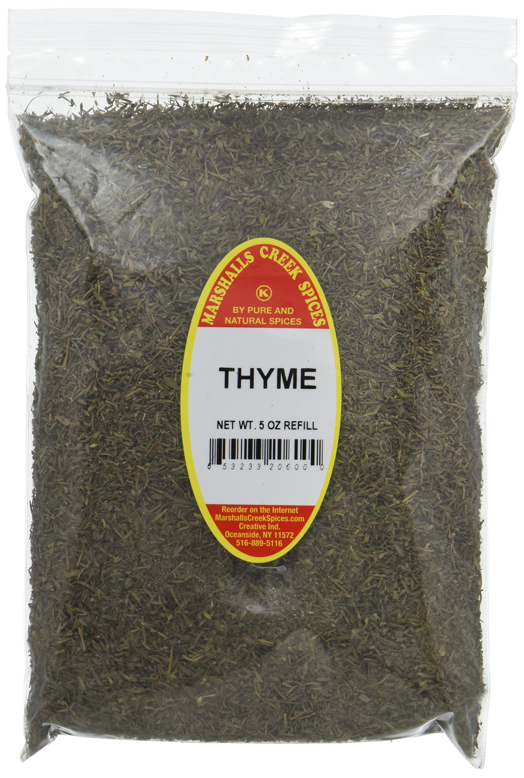 Marshalls Creek Spices Kosher Thyme Refill, 5 Ounce