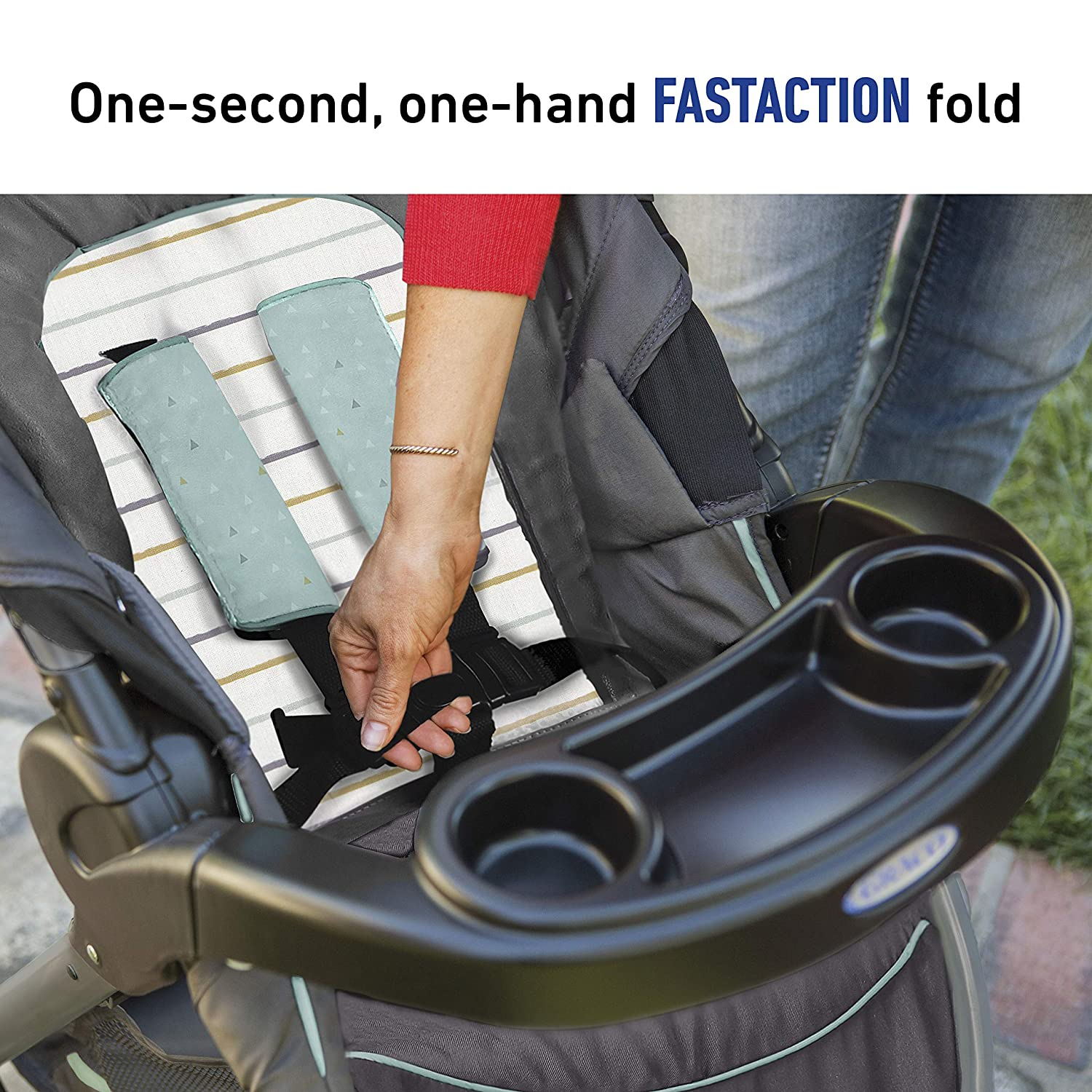 Amazon.com: Graco FastAction Cochecito plegable con sistema ...