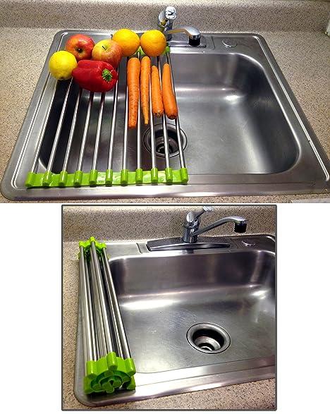 Amazon.com: Folding Drain Rack Vegetable Rinsing Station ...