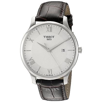 Tissot Men's T0636101603800 Tradition Analog Display Swiss Quartz Brown Watch