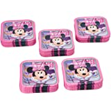 """American Greetings Minnie Mouse Square Plate (40 Count), 7"""""""