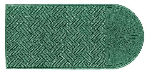 M A Matting 273 Waterhog Grand Classic Polypropylene Fiber Single End Entrance Indoor Outdoor Floor Mat, SBR Rubber Backing, 10 Length x 3 Width, 3 8 Thick, Aqua Marine