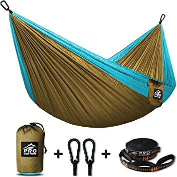 proventure single camping hammock  u0026 free tree straps   lightweight and  pact   for backpacking amazon    proventure single camping hammock  u0026 free tree straps      rh   amazon