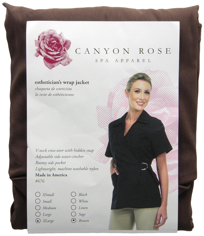 Amazon.com: Canyon Rose Wrap Front Salon Esthetician Jacket, Black, S: Beauty