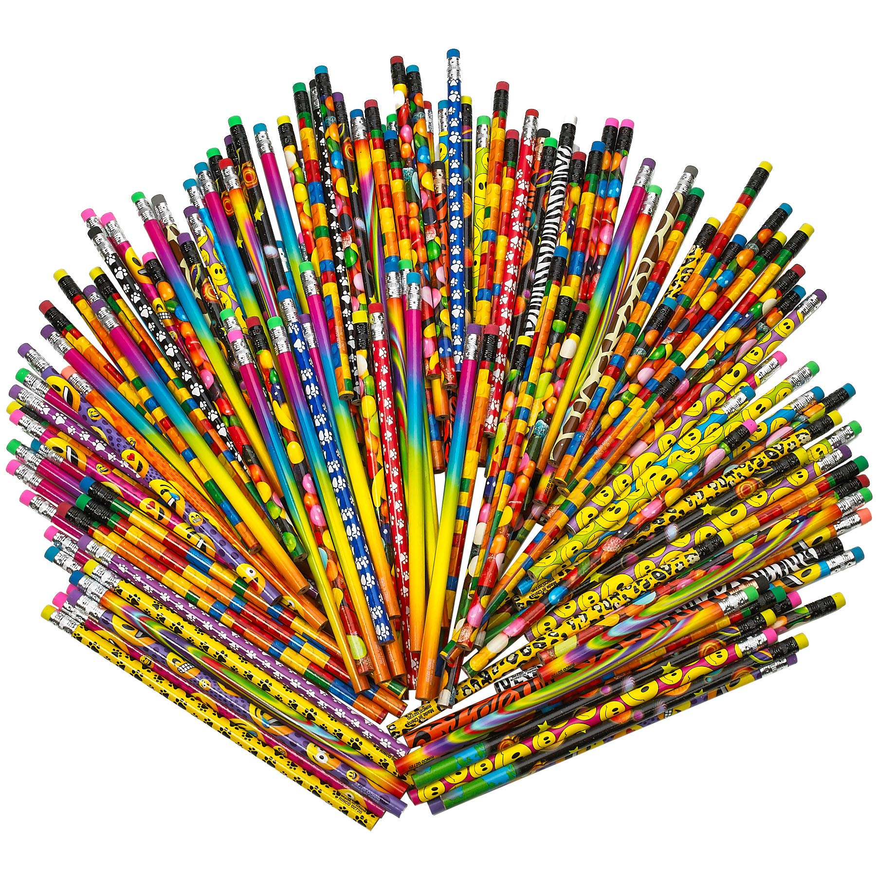 Kicko Pencil Assortment - 7.5 inches Assorted Colorful Pencils for Kids - Pack of 144 - Exciting School Supplies, Awards and Incentives by Kicko