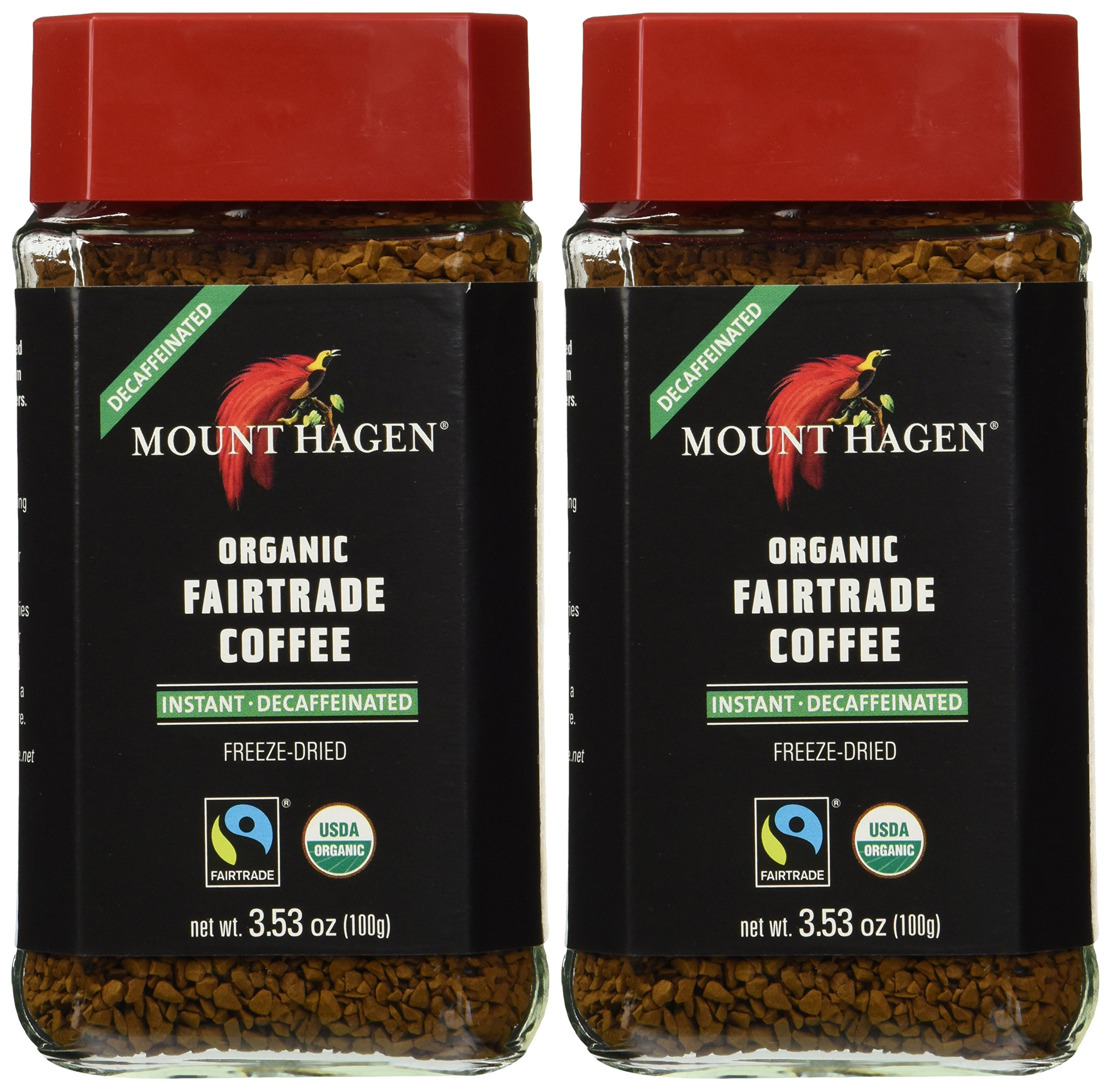 Mount Hagen Organic Coffee -Cafe Decaffeinated 3.53 oz (Pack of 2)